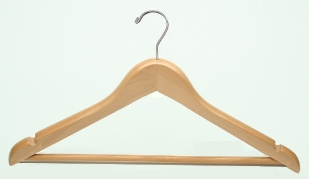 Bulk Amenities Deluxe Men S Flat Suit Wood Clothes Hanger