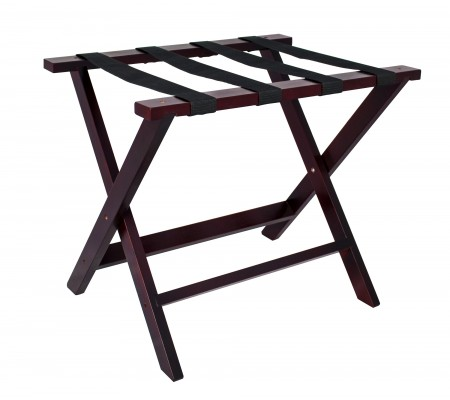 Bulk Supplies Mahogany Finish Luggage Rack With Black