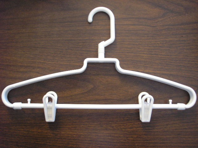 Wholesale Company Revolving Hook Hanger W Clips White