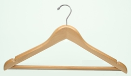 Hotel Deluxe Men%27s Flat Suit Wood Hanger