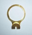 Bulk Metal Solid Security Motel Hanger Rings