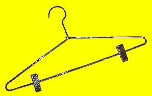 Bulk Chrome Plated Metal Hangers w/ Clips