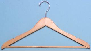 Bulk Mens' Wood Clothes Hotel Hangers