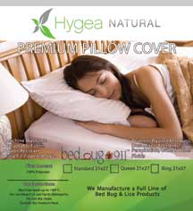 Hygea Bedbug Pillow Hotel Linen Suppliers