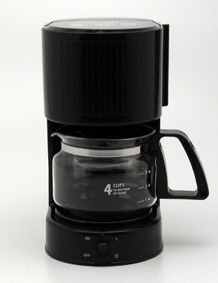 Bulk Products 4 Cup Hotel In Room Black Coffee Maker