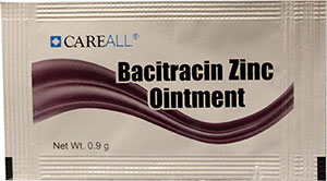 Bacitracin Zinc Ointment Packet, 0.9 g, 1728 per case,  hotel supplies online, Bacitracin Zinc Ointment Packet, 0.9 g, 1728 per case, BACP9