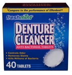 Freshmint Denture Cleaner, 40 tablets, 24/cs wholesale hotel supply company, Freshmint Denture Cleaner, 40 tablets, 24/cs, DENT40, Freshmint