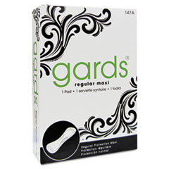 Gards Maxi Pads, folded, 250 per case American hotel supply, Gards Maxi Pads, folded, 250 per case, HOS 147A