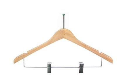 Hotel Supply Ladies Wood Hangers w/ Clips