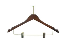 Wholesale Ladies Motel Wood Hangers w/ Clips Supplies