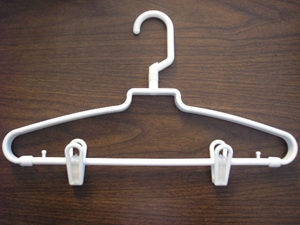 Revolving Hook Hanger w/ Clips, white, 72/cs