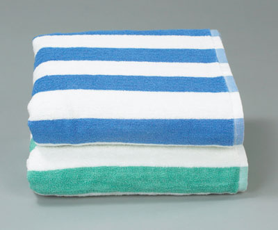 Bulk Supplies Striped Pool Towel Seafoam Green 30x70