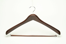 Ladies Contour Walnut Wholesale Bulk Hangers