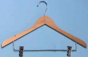 Wholesale Ladies Wood Motel Hangers w/ Clips