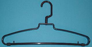 Plastic Revolving Mini Hook Hanger, brown, 72/cs