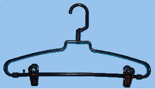 Bulk Products Revolving Hook Hanger W Clips Brown