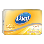 Dial, Gold Antibacterial Deodorant Bar Soap, 3.5 oz Box, 72/Carton
